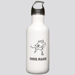 Girl Hockey Player (Custom) Water Bottle