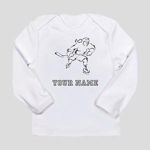 Girl Hockey Player (Custom) Long Sleeve T-Shirt