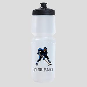 Hockey Player (Custom) Sports Bottle