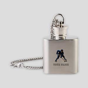 Hockey Player (Custom) Flask Necklace