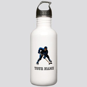 Hockey Player (Custom) Water Bottle
