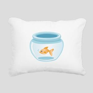 Fish In Bowl Rectangular Canvas Pillow