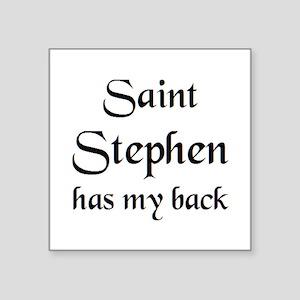"saint stephen Square Sticker 3"" x 3"""