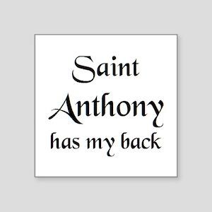 "saint anthony Square Sticker 3"" x 3"""