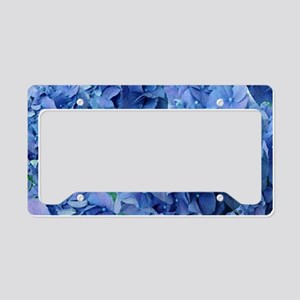 Blue Hydrangea Flowers License Plate Holder
