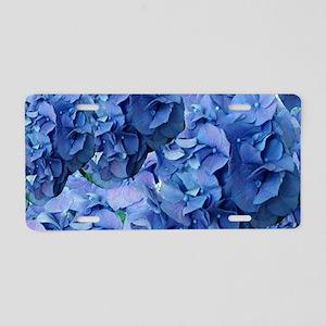 Blue Hydrangea Flowers Aluminum License Plate