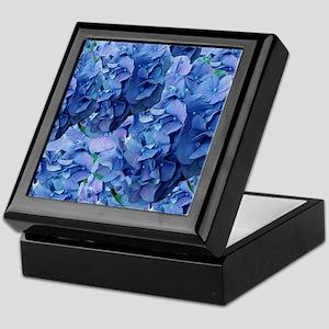 Blue Hydrangea Flowers Keepsake Box