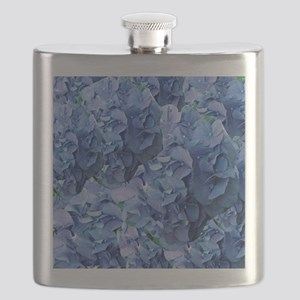 Blue Hydrangea Flowers Flask