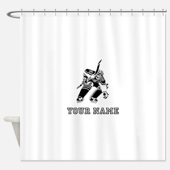 Hockey Goalie (Custom) Shower Curtain