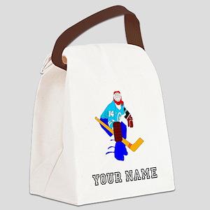 Hockey Goalie (Custom) Canvas Lunch Bag