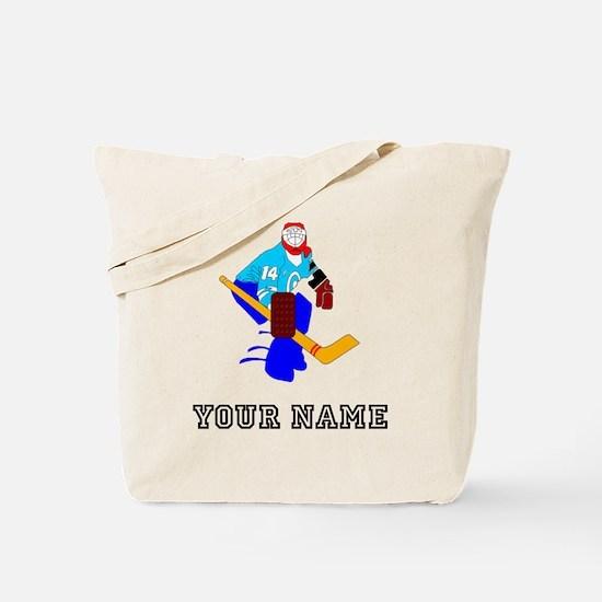 Hockey Goalie (Custom) Tote Bag