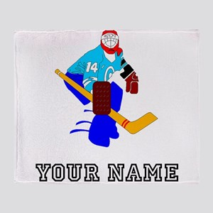Hockey Goalie (Custom) Throw Blanket