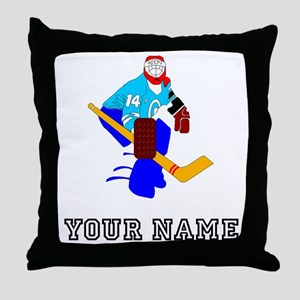 Hockey Goalie (Custom) Throw Pillow