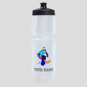 Hockey Goalie (Custom) Sports Bottle