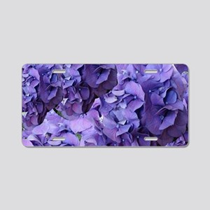 Purple Hydrangea Flowers Aluminum License Plate