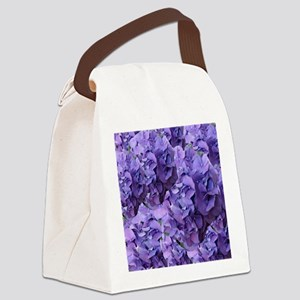 Purple Hydrangea Flowers Canvas Lunch Bag