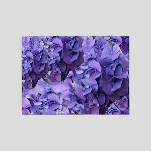 Purple Hydrangea Flowers 5'x7'Area Rug