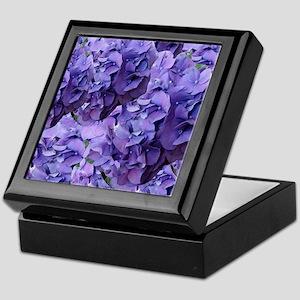Purple Hydrangea Flowers Keepsake Box