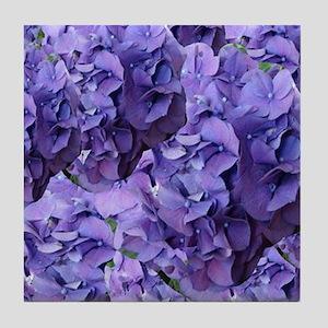 Purple Hydrangea Flowers Tile Coaster