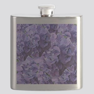 Purple Hydrangea Flowers Flask