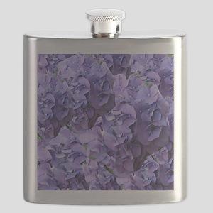 Purple Hydrangea Flowers Flask