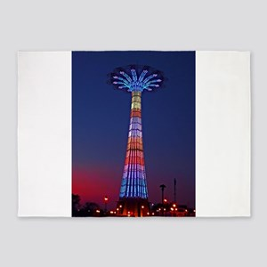 CONEY ISLAND'S WORLD FAMOUS PARACHU 5'x7'Area Rug