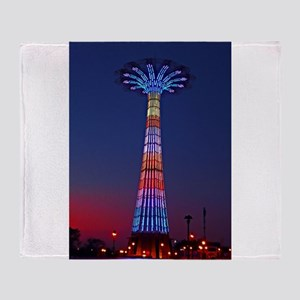 CONEY ISLAND'S WORLD FAMOUS PARACHUT Throw Blanket
