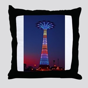 CONEY ISLAND'S WORLD FAMOUS PARACHUTE Throw Pillow