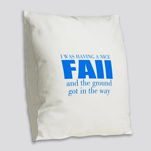 Funny accident Burlap Throw Pillow