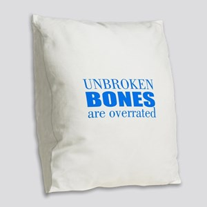 Accident Burlap Throw Pillow