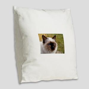 birman Burlap Throw Pillow