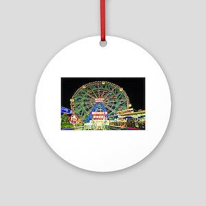 Coney Island's wonderous Wonder W Ornament (Round)