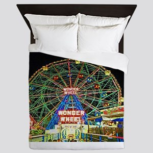 Coney Island's wonderous Wonder Wheel Queen Duvet