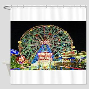 Coney Island's wonderous Wonder Whe Shower Curtain