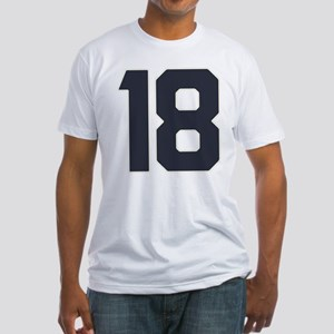 18 18th Birthday 18 Years Old Fitted T-Shirt