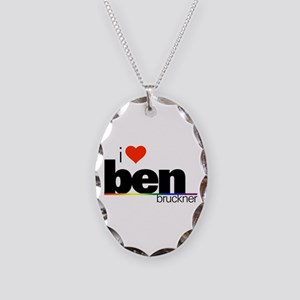I Heart Ben Bruckner Necklace Oval Charm