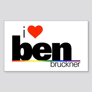 I Heart Ben Bruckner Rectangle Sticker