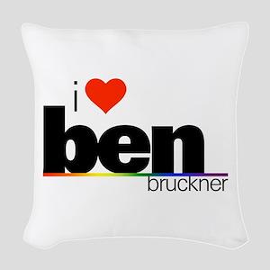 I Heart Ben Bruckner Woven Throw Pillow