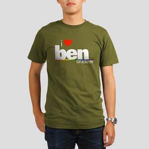 I Heart Ben Bruckner Organic Men's Dark T-Shirt