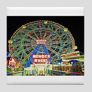 Coney Island's wonderous Wonder Wheel Tile Coaster