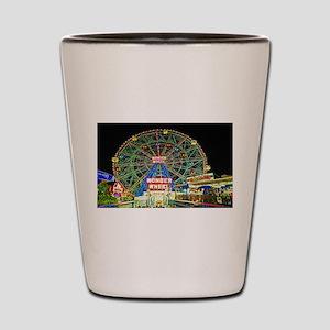 Coney Island's wonderous Wonder Wheel Shot Glass