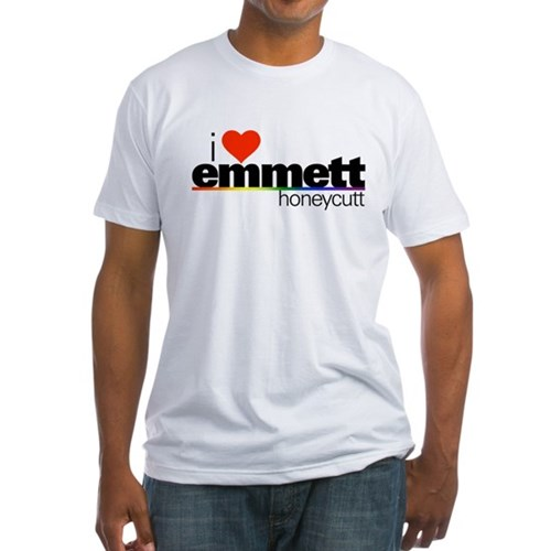 I Heart Emmett Honeycutt Fitted T-Shirt