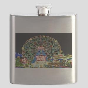 Coney Island's wonderous Wonder Wheel Flask