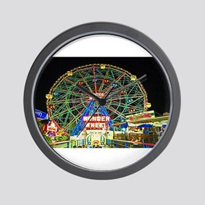 Coney Island's wonderous Wonder Wheel Wall Clock