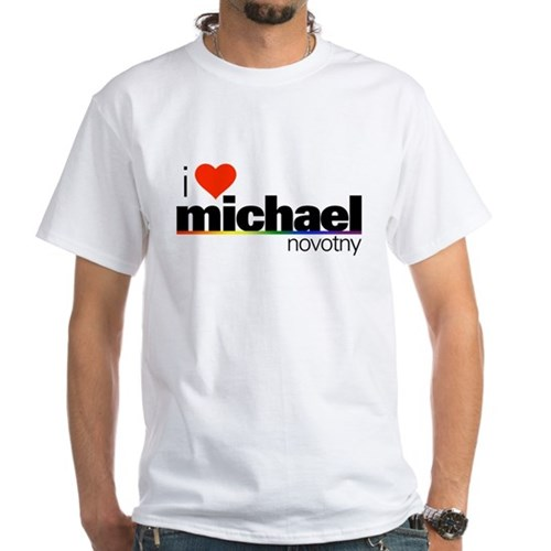 I Heart Michael Novotny White T-Shirt
