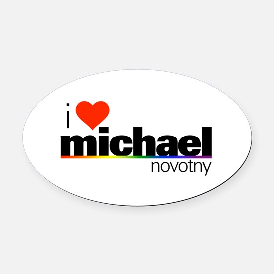 I Heart Michael Novotny Oval Car Magnet
