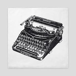 Vintage Typewriter Queen Duvet