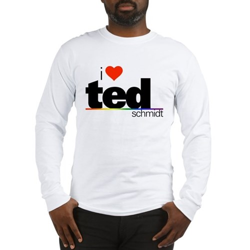 I Heart Ted Schmidt Long Sleeve T-Shirt
