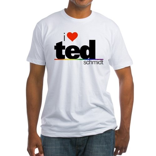 I Heart Ted Schmidt Fitted T-Shirt