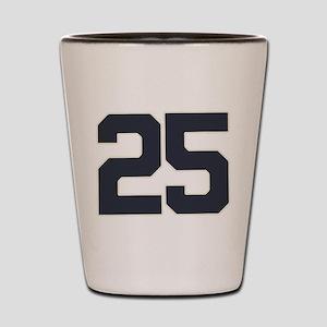25 25th Birthday 25 Years Old Shot Glass